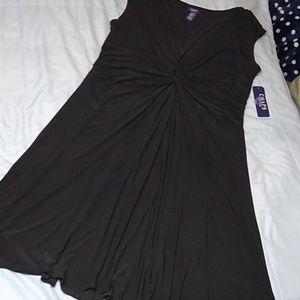 Chaps Black Dress Flattering Details 18W 18